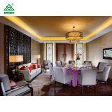 肘掛け椅子/静かに木炭快適なファブリックによって装飾されるレストランの家具