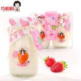 95g 2 유리병 형식 패킹 유산균 딸기 푸딩