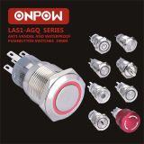 Onpow 누름단추식 전쟁 (LAS1-AGQ-11E/R/12V/N, 19mm 의 세륨, UL, CCC, RoHS)