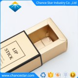 Cajón de impresos personalizados de papel de la lámina de oro tipo lápiz de labios de verificación