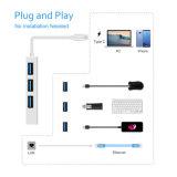 Многофункциональное USB3.1 c к переходнике USB 3 USB3.0+Ethernet Port