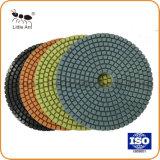80, van 100, van 125, van 150, van 180mm het Natte Oppoetsende Stootkussen van de Diamant van het Gebruik Convexe voor Marmer, Graniet en Beton
