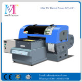 Impresora de inyección de tinta UV (teléfono de los casos/plástico/cuero/vidrio/negro material)