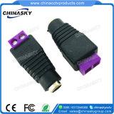 2.1*5.5mm de Vrouwelijke Schakelaar van de Macht van kabeltelevisie gelijkstroom met de Purpere Terminal van de Schroef (PC101PP)