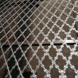 Clôture galvanisée de maille de barbelé de rasoir