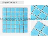 Mosaico de la baldosa cerámica del crujido del hielo del azul de océano para la piscina