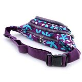 Women Fashionable Floral Printing Outdoor Hiking Waist Pack Fanny Pack Bag