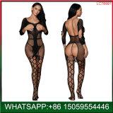 Gola redonda lingerie sexy, Preto Finshnet Panty-Hose Bodystocking Sexy e sensual mulheres