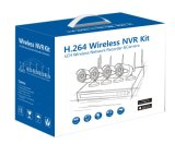 720p 4CH Kit de NVR Wireless WiFi cámara de vigilancia CCTV seguridad