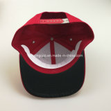 Red seis instrumentos Sarjado Algodão Snapback Pico Plana Hat
