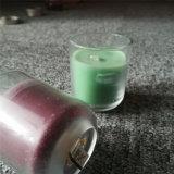 Candela di vetro colorata viola blu rotonda del vaso di Bottem con ISO9001