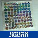Стикер ярлыка обеспеченностью лазера изготовленный на заказ цвета круглый голографический