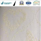 Poliestere 100% con il tessuto dorato del materasso del jacquard