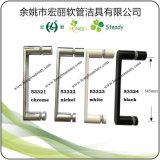 Punho e botão sanitários da liga do zinco dos mercadorias para o cerco do chuveiro