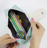 1 equipo coreano Lápiz de color caramelo de cuero de PU en caso de la bolsa de lápiz de la escuela para niñas papelería escolar material escolar