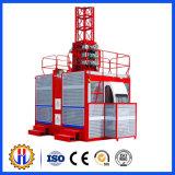 Élévateur de construction de cages du matériel de levage double Sc100/100, mini grues d'élévateur de construction