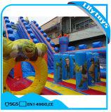子供のための紫色の膨脹可能な娯楽城公園