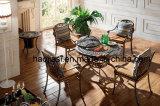 Utdoor/庭/テラスの藤の鋳造アルミのバーベキュー表HS6122dt