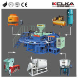 Автоматический поворотный ПВХ для выдувания воздуха/Crystal машины литьевого формования