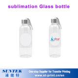 botella de agua de cristal 430ml con la botella inoxidable del casquillo para la sublimación