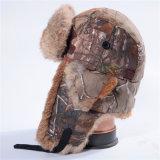 Cabelo dobro Camo do Cony do tampão de coroa do russo. Chapéu do inverno