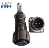 Fq18-2 Pins Prueba de agua de alimentación conector metálico circular