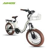 2016熱い販売電気自転車を折る20インチの脂肪質のタイヤ