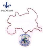 China Wholesales Logotipo de PVC Llavero Collar de metal para decorar