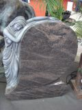 Gravestone гранита Багама американского типа нестандартной конструкции голубой