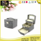 La joyería de lujo de doble capa de cuero caja de embalaje Caja de juegos de joyería (8023)
