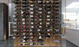 clavijas montadas en la pared del vino del estante del vino del almacenaje de la visualización del metal 3-Bottle