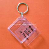 Promotion Gift를 위한 주문 Square Shape Hollow Plastic Key Chain