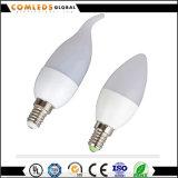 Luz atada vela de la lámpara LED de E14 C37 3W 5W 7W