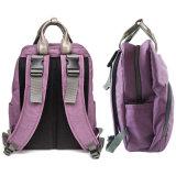 Backpack пеленки Китая мешок ворсистого Tote оптового водоустойчивого пурпуровый