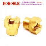 De cabeza hexagonal de latón insertar en la parte moldeado por inyección