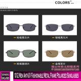 1012 homens anti-UV na moda óculos polarizados com estrutura metálica
