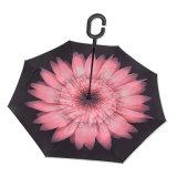Bonne qualité grande fleur imprimé Parasol Parasol