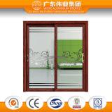Porte coulissante en verre Tempered de double de grossiste de Foshan