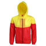 Настраиваемые контрастный цвет Водонепроницаемый для использования вне помещений спортивных тонкие повседневный ветровку куртка