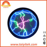 La Ronda de cristal de plasma de símbolo del rayo de luz globo