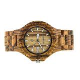 도매 성격 Handmade 우수한 질 Unsiex 주문 로고 얼룩말 나무 손목 시계
