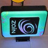 Caixa leve do diodo emissor de luz do móbil acrílico ao ar livre da parte dianteira da loja
