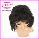Peluca llena del pelo del cordón de la Virgen de una calidad más barata y mejor el 100% del cordón brasileño humano del pelo rizado (hw-056)