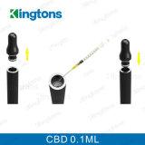 Color negro de Cbd del vaporizador de Kingtons de la pluma del mini petróleo al por mayor de Ecig 0.1ml