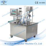 Tipo giratório máquina de enchimento giratória automática do copo do gelado