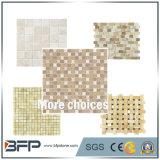 지면 도와를 위한 회색 또는 백색 또는 노란 자연적인 대리석 큰 메달 패턴 돌