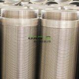 Tela de Poços V no fio do tubo do filtro de água do tubo de slot de telas