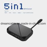 Nova chegada 15cm 5 em 1 USB HDTV C adaptador do cubo para jogos