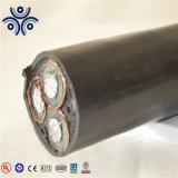 3*35mm2 Aluninum 0.6/1kv conducteurs isolés en polyéthylène réticulé à 3 conducteurs de puissance avec câble blindé