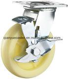 Industrielle White pp. Schwer-Aufgabe Adjustable Caster mit pp. Wheel Caster